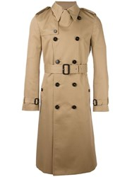 Saint Laurent Classic Belted Trench Coat Nude Neutrals