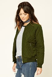 Forever 21 Contemporary Quilted Bomber