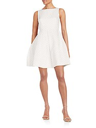 Taylor Eyelet Fit And Flare Dress White