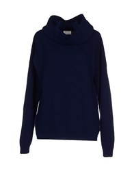 People Knitwear Turtlenecks Women Dark Blue