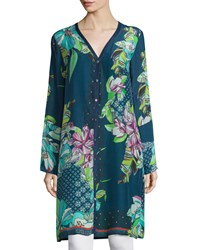 Johnny Was Garden Floral Print Long Cardigan Women's