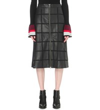 Preen Line Molly Leather Skirt Black