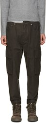 Helmut Lang Grey Cargo Trousers