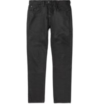Levi's 501 Ct Slim Fit Tapered Coated Selvedge Denim Jeans Black