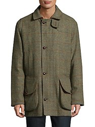 Saks Fifth Avenue Classic Woolen Coat Green