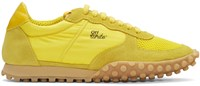 Off White Yellow Vintage Runner Sneakers