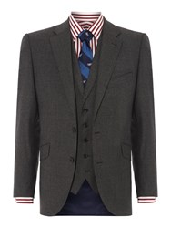 New And Lingwood Queensbury Flannel Suit Jacket Grey