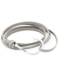 Miansai Hook Wrap Bracelet Grey