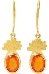 Marie Helene De Taillac Precious Pineapple 22 Karat Gold Opal Earrings