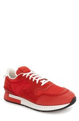 Givenchy Men's 'Active Runner' Sneaker Red Canvas Leather