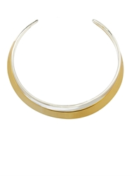 Robert Lee Morris Gold And Silver Plated Double Necklace