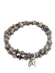 Bootleggers Imperial Gray Beaded Bracelet