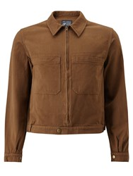 John Lewis And Co. Made In Manchester Garment Wash Bomber Jacket Khaki