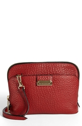 Burberry 'Small Harrogate' Leather Crossbody Bag Military Red