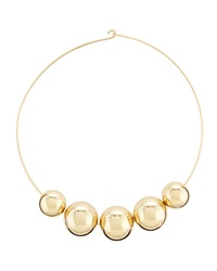 Kenneth Jay Lane Golden Bead Wire Necklace