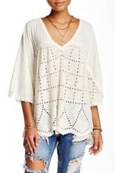 Free People Summer Lovin' Linen Blend Blouse White