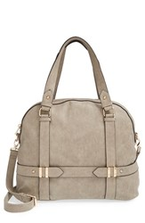 Sole Society 'Tristan' Faux Leather Bowler Bag Grey