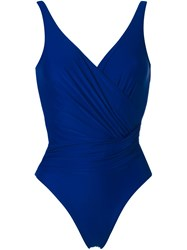 Lygia And Nanny Wrap Swimsuit Blue