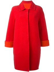Gianluca Capannolo Classic Fastening Shift Coat Red