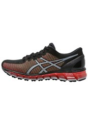 Asics Gelquantum 360 2 Cushioned Running Shoes Black White Green Gecko