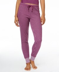 Alfani Jacquard Jogger Pajama Pants Only At Macy's Plum Dot