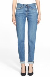 Helmut Lang Destroyed Tapered Jeans Light Blue