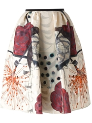 Antonio Marras Printed Flared Skirt