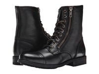 Frye Tyler Double Zip Black Soft Vintage Leather Women's Lace Up Boots