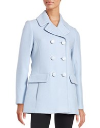 Kate Spade Wool Blend Double Breasted Peacoat Pearl Blue