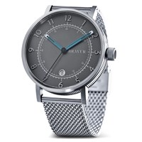 Bravur Watches Bw001 Silver Milanese Grey Dial Watch