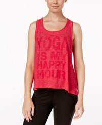 Gaiam Willow Graphic Tank Top Pink Happy Hour
