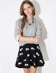 Pixie Market Eye See Skater Skirt
