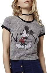 Women's Topshop 'Mickey Mouse New York' Graphic Tee
