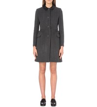 Claudie Pierlot Garbo Coat Wool And Cashmere Blend Coat Gris Chine