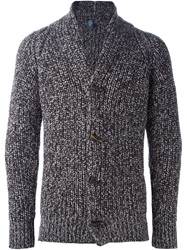 Eleventy Marled Cardigan Brown