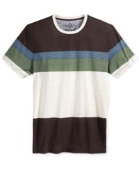 American Rag Men's Variegated Stripe T Shirt Only At Macy's Rich Chocolate