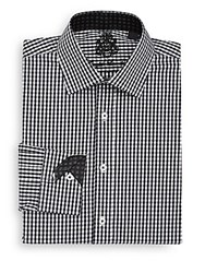 English Laundry Regular Fit Gingham Dress Shirt Black