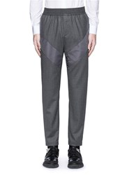 Givenchy Diagonal Panel Flannel Pants Grey