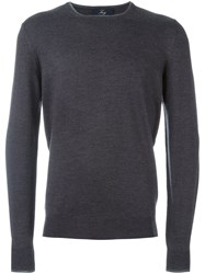 Fay Crew Neck Jumper Grey