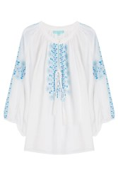 Melissa Odabash Avalon Blouse Embroidered Tunic White
