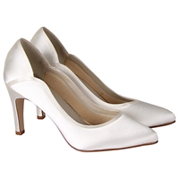 Rainbow Club Lucy Satin Court Shoes Ivory