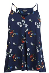 Warehouse Spaced Floral Cami Top Blue