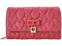 Betsey Johnson Always Be Mine Wallet On A String Pink Wallet Handbags