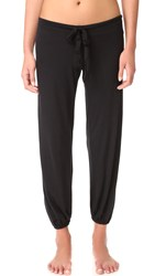 Eberjey Heather Cropped Pj Pants Black