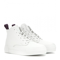 Eytys Odyssey Leather High Top Sneakers White