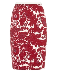 Nougat London Carla Print Skirt Red