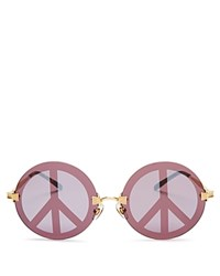 Wildfox Couture Pearl Peace Sign Mirrored Sunglasses 54Mm Gold Peace Sign Mirror