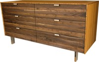Iannone Design Wood Stripe Long Dresser