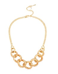 Kenneth Cole Woven Links Colorado Beaded Chain Link Necklace Gold