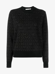 Givenchy Star Print Wool Cashmere Blend Sweatshirt Black Brown